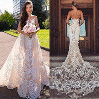 Wholesale wedding dress removable tulle straps for sale - Group buy 2019 Designer Bateau Mermaid Wedding Dresses Bateau Sleeveless With Removable Train Bridal Gowns Backless D Lace Plus Size Wedding Gown