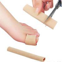 ingrosso insoles bunion-Piedi Finger Corrector Solette Tessuto Gel Silicone Tubo Bunion Toes Dita Separatore Divider Protector Calli Calli 0720ayq