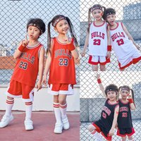 Wholesale little kids basketball resale online - 2020 basketball practice jersey short combos for boys piece basketball performance top and shorts set birthday gift present for little kid
