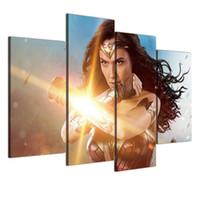 malerei frau nackt großhandel-Wonder Women, 4 Stück Home Decor HD gedruckt moderne Kunst Malerei auf Leinwand (ungerahmt / gerahmt)