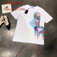 bc branco venda por atacado-2019 mulheres marca T-Shirts branco Clássico Doodle de Manga Curta de Algodão T-Shirt casual Tee camisas mulher verão roupas femininas BC-3