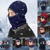 winterhut halsschutz groihandel-Plus kalt warm bib Hut männlich Winter im Freien Reit Maske windproof Gesichtsschutz Halshülse integriert Hut