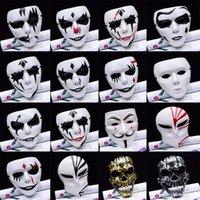 v máscaras anónimas al por mayor-Partido del estilo 1PCS 16 Máscaras V de Vendetta máscara máscaras de Guy Fawkes Anónimo partido accesorio del traje adulto de lujo de Cosplay de Halloween, Q