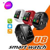 telefone preto smartwatch venda por atacado-Presentes NOVA Relógio Inteligente Bluetooth Android Phone Inteligente Pulseira Esporte Relógio De Pulso U8 Smartwatch Inteligente Telefone Móvel Preto