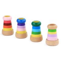 juguete de madera de abeja al por mayor-De madera de abeja ojo mágico efecto de prisma múltiple caleidoscopio niños agarrando rompecabezas juguete de entrenamiento de acción de juguete de educación temprana