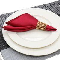 tischdecken für veranstaltungen großhandel-30 cm Serviette Platz Satin Stoff Tasche Taschentuch Tuch für Hochzeitsdekoration Event Party Hotel Hause Versorgt