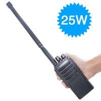 uhf walkie talkie longo venda por atacado-ABBREE AR-25W 25 Watts Poderoso walkie talkie UHF 400-480 MHz 10 W 10-20Km Long Range Rádio Em Dois Sentidos para a caça + Antena Tática
