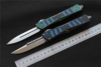 vespa knifes venda por atacado-Alta qualidade VESPA Lâmina de Faca: D2 (S / E, D / E) Lidar com: Alumínio + TC4 + G10, acampamento ao ar livre facas de sobrevivência EDC ferramentas