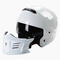 ingrosso caschi moto aperti-Casco con coperchio per crash di strada per motociclette a 3 dimensioni Open Face Resistente plastica ABS
