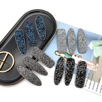 saç kırpma aksesuarları toptan satış-Avrupa Moda Takı Kadınlar Kız Rhinestones Blink Barrette Firkete Klip Bobby Pin Saç Klip Aksesuarları S278