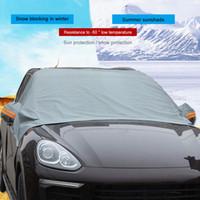 einfrieren glas großhandel-Auto Windschutzscheibe Abdeckung Sun Shadow Protector Winter Verdickung Frost Frost Frost Glas Abdeckung Auto Schutz Schutz