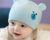 788f55266d9 Korean version of the new knitted children s cap for autumn and winter cute  cartoon bear ear wool baby cap. US   3.26 - 7.95   Piece. Free Shipping