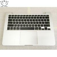 üst klavye toptan satış-Orijinal A1502 Palmrest Konut Arka Klavye Macbook Pro Retina Topcase Için Geç 2013 Orta 2014 13