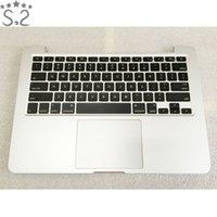 véritable clavier achat en gros de-Véritable A1502 Palmrest Logement Clavier Rétro-éclairage Pour Macbook Pro Retina Topcase Fin 2013 Mi-2014 13