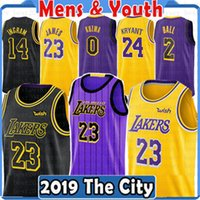 Top 2019 2018 Los Angeles 23 LeBron James Jersey Lakers 2 Lonzo Ball 0 Kyle  Kuzma 14 Brandon Ingram 8 24 Kobe Bryant City Basketball Jerseys 9dd257c8f