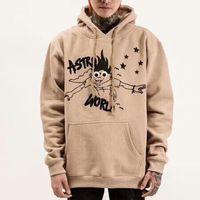 Wholesale harajuku cartoon hoodies women for sale - Group buy 2019SS ASTROWORLD TRAVIS SCOTT Cartoon Printing Men Women Pullover Hoodies Fashion Harajuku Hip Hop Sweatshirt Top Clothes Khaki