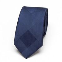 мужские 6см шейные стяжки оптовых-Men Blue Neckties xgvokh  fashion Wedding leisure business polyester Skinny Mens Ties 6cm width Slim Neck Tie