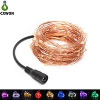 Wholesale warm pink resale online - LED String Light DC12V M LEDS M LEDS Waterproof Colors Copper Wire Christmas String light For Party Wedding Decoration