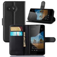 telemóveis lumia venda por atacado-Lumia 550 Mobile Shell Nokia Lumia 550 tampa do telefone móvel Lichia Wallet Protector