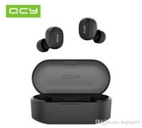 bluetooth qcy al por mayor-La promoción 50pcs QCY T2C TWS Auriculares Bluetooth Auriculares inalámbricos Binaural - Negro