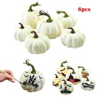 mini halloween süslemeleri toptan satış-12pcs / set Mini Simülasyon Kabak DIY Yaratıcı Köpük Cadılar Bayramı Partisi Bahçe Dekorasyon Craft Parti RRA2071 Favor