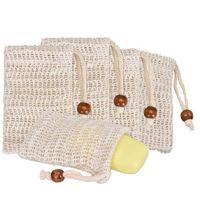 Wholesale sanitary bags resale online - Soap Mesh Soap Foaming Net Bubble Mesh Bag Skin Bathroom Bath Brushes Sponges Scrubbers Clean Tools DMA02