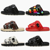 Wholesale best fashion heels for sale - Group buy 2019 New Visvim Slippers Men Women Lovers Fashion luxury Shoes Slippers Beach Hip hop Street Sandals best Outdoor Slippers