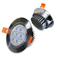 focos de led para cocina de techo al por mayor-Luminaria de techo LED Foco de luz Baño Cocina 3W 5W7W9W12W15W18W Lámpara de montaje empotrado en el techo 6 pulgadas