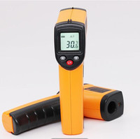 Wholesale temperature gun contact infrared thermometer laser resale online - Non contact Digital Infrared Thermometer Hand held Temperature Meter IR Laser Temperature Gun Pyrometer With Backlight DHL Free