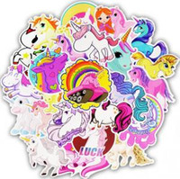 Wholesale cars wall stickers for kids for sale - Group buy Unicorn Stickers Poster Wall Sticker for Rooms Home Laptop Skateboard Luggage Car Kids DIY Cartoon Sticker Set Wall Decor GGA1624