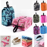 Wholesale folding shoes bag for sale - Group buy New Portable Shoes Bags Cosmetic Bag Camouflage Folding Waterproof Travel Wash Bag Furnishing Dust of Finishing Home Sundries Bags WX9