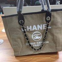 grandes sacos designer casual venda por atacado-Bolsas de grife melhor Venda de Lona Das Mulheres Casuais Sacos de Ombro com Correntes Saco de Grande Capacidade 4 Cores frete grátis saco de moda senhoras