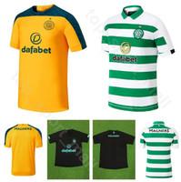 kits de futebol marrom venda por atacado-2019 2020 homens camisa de futebol celta do FC 22 EDOUARD 49 FORREST 11 SINCLAIR 17 CHRISTIE 42 MCGREGOR 8 camisa de futebol marrom Kits uniforme