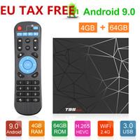 allwinner skype-tv-box großhandel-T95 max Android 9.0 TV-Box 2 GB 16 GB 4 GB 32 GB TV-Box Allwinner H6 Quad Core Smart TV VS Q plus