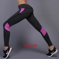Wholesale yoga pants high for sale - Group buy Women Yoga Running Outdoor Sport Elastic Exercise High Waist Leggings Gym Fitness Slim Capri Pants Trousers