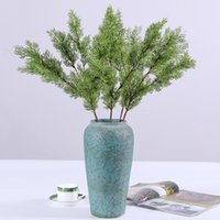 Wholesale european country kitchens for sale - Group buy Simulation Pine And Cypress Green Fake Plants Plastic Artificial Home Furnishing Wedding Supplies Part Decoration hq F1