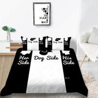 ingrosso gli insiemi di biancheria degli amanti-Designer Bedding Set per la copertura di base del cane amante modo creativo copripiumino Double Queen Re Single Twin piena morbida con Federa