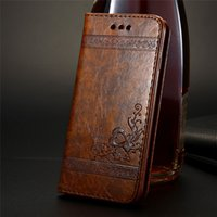 Wholesale iphone case synthetic online – custom Luxury Retro Synthetic Leather Stand Holder Wallet Flip Card Slots Phone Case Cover For Apple iPhone Plus X XS MAX XR