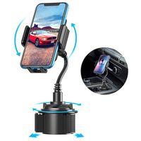 ingrosso supporto portacampione regolabile-Supporto regolabile per telefono cellulare con supporto per telefono auto 360 gradi girevole per iPhone Samsung Huawei Xiaomi