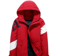 Wholesale snow white clothing resale online - 2019 New Men Down Jackets Warm Casacos Thick Snow Jackets Winter Outwear White Duck Down OverCoats Windproof Clothing