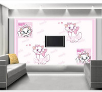 Wholesale wallpaper cat for sale - Group buy custom size d photo wallpaper kids room mural cartoon cute cat d painting picture sofa TV background wall wallpaper non woven sticker