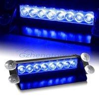 innen blaue led leuchtet autos großhandel-Gzhengtong auto geändert lampe blau 8 led strafverfolgung verwenden blitzlicht innen dach dash windschutzscheibe für bmw audi benz nissan opel etc.