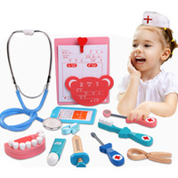 arzt spielzeug großhandel-Holzspielzeug Lustige Phantasie Leben Echte Cosplay Arzt Spiel Spielzeug Zahnarzt Medizin Pretend Play Doktor Für Kinder