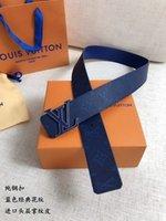 tecido de vinil azul venda por atacado-O clássico azul da largura 40Mm imprimiu a correia oficial autêntica da correia impermeável dos homens da tela com caixa