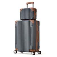 valises blanches achat en gros de-Sacoche pour femme avec sac de maquillage 2PC Set Lady Lovely Colour Travel bag vs set de valise trolley blanc crème 20/22/24 pouces