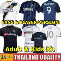 kits de ventiladores al por mayor-19 20 IBRAHIMOVIC LA Galaxy Camiseta de futbol 2019 Los Angeles Galaxy Geckard Beckham Kit de Fútbol Hombres Niños LAFC VELA Camisetas de Los Angeles FC