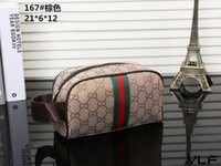 Wholesale portable carriers for sale - Group buy Letter plaid pu hand take cosmetic bag new large capacity portable storage wash portable small bag