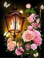 ingrosso resina floreale-5D diamante del ricamo del fiore rosa fai da te pittura diamante punto croce resina kit completo roundsquare diamante mosaico regalo decorazioni per la casa BB0987