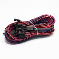 arduino yazıcı toptan satış-10 Adet / grup 70 cm 4Pin Kablo Kadın-Kadın Jumper Tel Arduino için 3D Yazıcı Reprap AL
