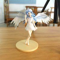figura menina quente brinquedo venda por atacado-Batida Anjo Tenshi Uniforme Escolar Ver Tachibana Kanade PVC Action Figure Collectible menina quente Modelo Toy Cosplay